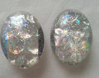 Holographic & Glitter Resin Magnets