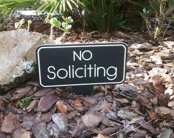 No Soliciting, No Soliciting Sign, No Soliciting Yard Sign, No Soliciting door sign, Free Shipping.