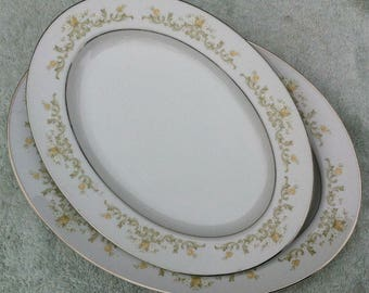 Two (2) Town House fine China Japan Regal 3090 platters (unused)