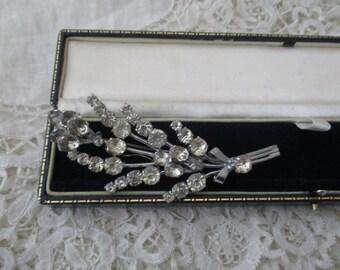 1930's diamante  brooch czech stamped