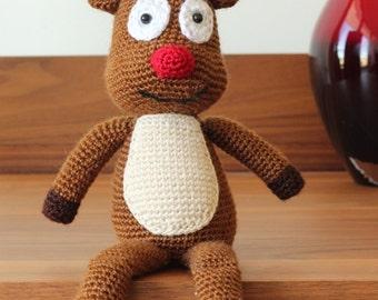Amigurumi Reindeer Free Pattern : Rudolph the red nosed reindeer free pattern modification fawn