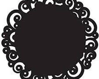 14 Black Paper Doilies, Swirl Design, 8 inch