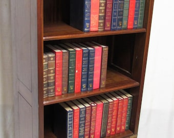 Antique English Military or Campaign Open Bookcase or Library Bookcase or bookshelves