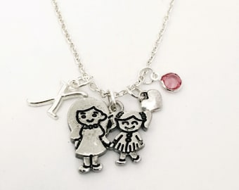 Personalized Sisters Necklace