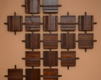 Wood Wall Hanging made in Walnut