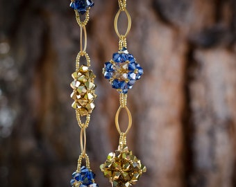 Diamond Golden Sky Swarovski Crystal Necklace