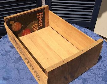 Wood Crate, Sunkist Oranges