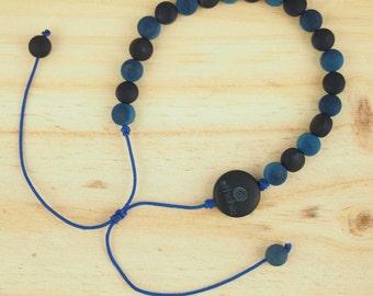 Vegetal ivory bracelet, bleu bracelet, minimalist bracelet, ethical bracelet, ethical gift, modern bracelet, original bracelet, ethchic