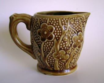 Retro vintage flower power mod woodland style creamer pitcher – Made in Occupied Japan