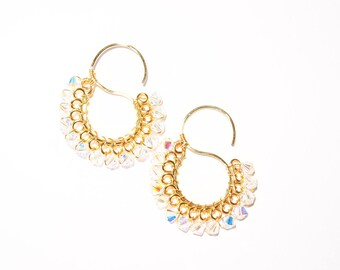 Swarovski Crystal Gold or Silver S Earrings