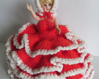 Vintage Celluloid Dolls Open Close Eyes Dolls with Open Shut Eyes Crochet Dress for Dolls