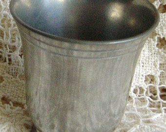 Antique French Etain Pewter Cup Circa 1900s Pastis Aperitif Cup
