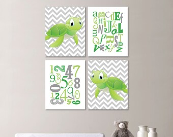 Turtle Nursery - Baby Boy Nursery Art - Turtle Nursery Decor - Turtle Nursery Art - Turtle Wall Art - You Pick the Size (NS-536)