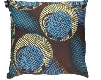 16 x 16 African Print Throw Pillow