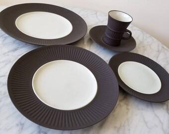 20 Piece Jens Quistgaard Dansk Denmark Flamestone 1960u0027 Modern Dinnerware Set 4 cups 4 saucers 4 salad plates 4 bread plates 4 dinner plates & Dansk | Etsy
