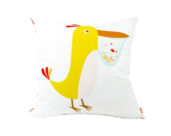 Limited Edition Pelican Pillow 20 Inches Square Pillow