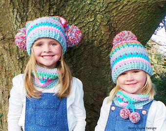 CROCHET HAT PATTERN Set - Inca hat and neck warmer crochet pattern, Yarn buster crochet pattern - Inca hat pattern Crochet pattern for hats