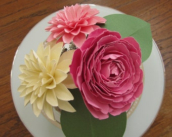 Paper Flowers Centerpiece - Small
