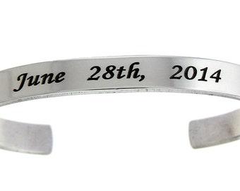 Aluminum Customizable Cuff Bracelet