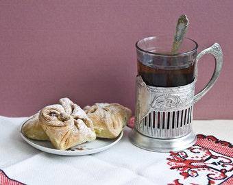 Vintage tea glass holder - tea cup holder, vintage glass holders, USSR, russian, home decor, soviet vintage, housewares
