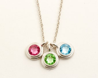 Mother Gift - Family Necklace - Mommy Necklace - Silver Birthstone Necklace - Necklace for Mom - Gift For Mother - Mom Necklace