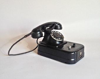 Zwietusch telephone Coin telephone Vintage rotary telephone Money telephone German telephone Collectible telephone German telephone