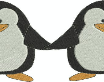 Cute Penguins 1 Machine Embroidery Designs