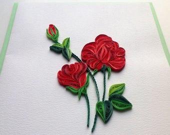 Rose Flower Cards/F006, F007, F008, F009