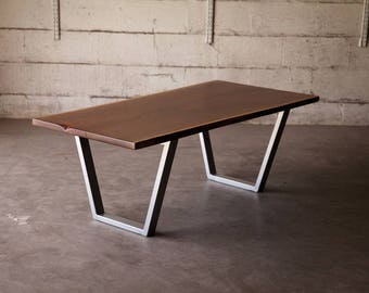 metal furniture legs modern. Set Of Two Metal Table Legs, Trapezoid Iron 27\ Furniture Legs Modern M