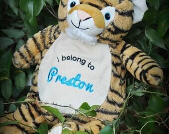 Personalized Stuffed Animal Tiger Cubby~  Custom Cubbies ~ Monogrammed Stuffed Animals