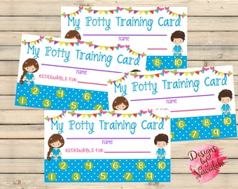 Potty Training Punch Cards