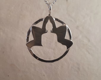 Sterling Silver Lotus & Buddha Pendant