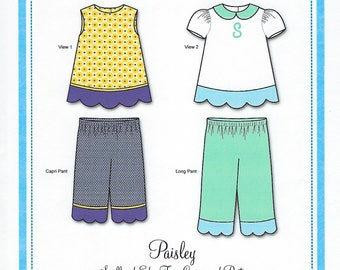 Bonnie Blue Pattern #156 / PAISLEY / Sizes 3 yr - 8 yr