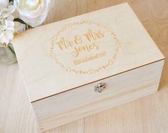 Wedding Memory Box - Wedding Keepsake Box - Anniversary Gift - Personalized Box - Rustic Wedding - Wedding Gift Box - Wedding Photo Album