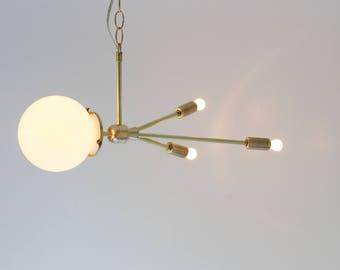 Rocket Pendant Lamp, Space Age Hanging Brass Pendant Lighting Fixture