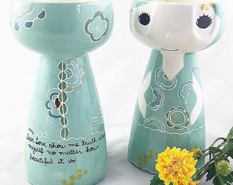 LIMITED EDITION - Baiana Ceramic Tall Vase - Ceramic Vase - Flower Vase - Ceramics and Pottery