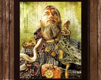 "Ragnar Lothbrok ""A Hero Remembered"" Digital Painting Print, Vikings"