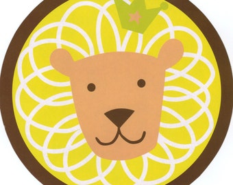 King of the Jungle Baby Shower Cupcake Toppers, Favor Tags or Stickers – 2 Inch Circles – DIY Printable (Digital File)