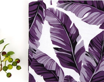 Purple Leaves Cotton Fabric - By the Yard 101159