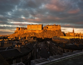 Edinburgh Castle basking in Sunlight