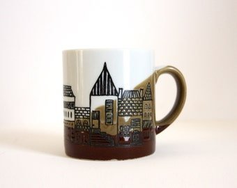 Town Cup. 1980's Coffee / Tea Mug