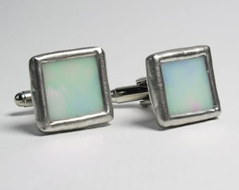 Frost - Mens Stained Glass Cuff Link Set