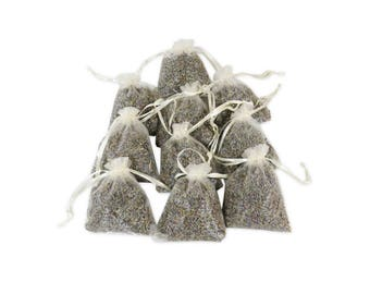 French Lavender Sachet Bags, Baby Shower Favor 3x4 Organza Bagged Fragrant Hanging Linen Sachets for Aromatherapy, Potpourri - LS001-9