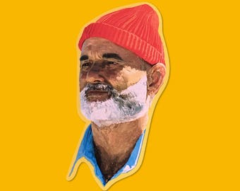 Steve Zissou, The Life Aquatic Vinyl Sticker