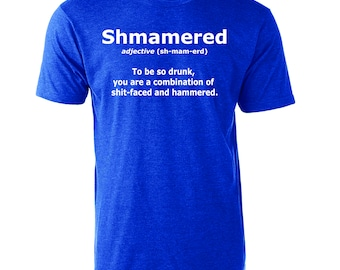 Shmamered Funny Drinking Graphic T-Shirt