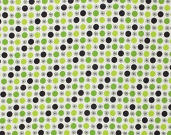 Denyse Schmidt Flea Market Fancy Legacy Collection Flower Dots Green cotton Fabric by the yard