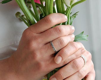 Braided wedding ring Etsy
