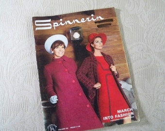 Knitting Supplies Spinnerin Pattern Booklet 1973 Volume 181 March Into Fashion