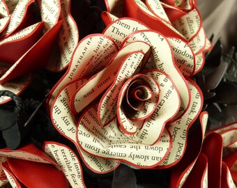 Dracula II paper wedding bouquet Book paper rose bridal bouquet