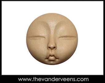 Mold No.156 (Tiny Full moon Face with Clased eyes) by Veronica Jeong